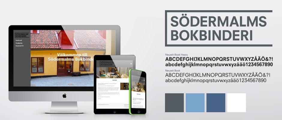 Södermalms Bokbinderi identity & web