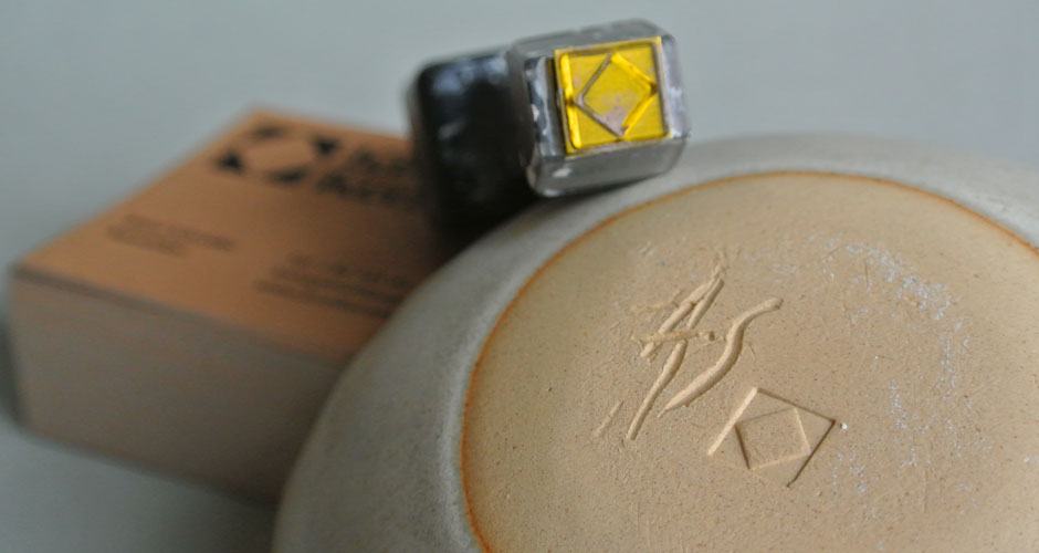 Kisel Keramik monogram stamp